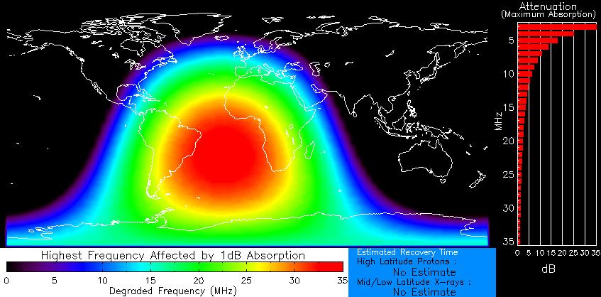 Short radiowave blackout over the Atlantic on Nov. 19th