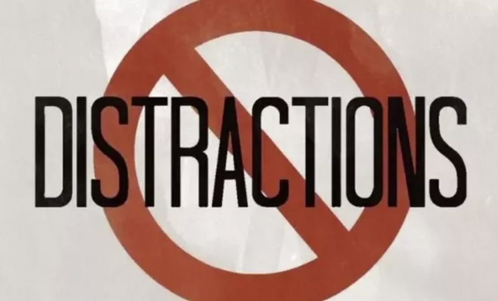 What is the best way to get rid of distractions like your phone while studying?