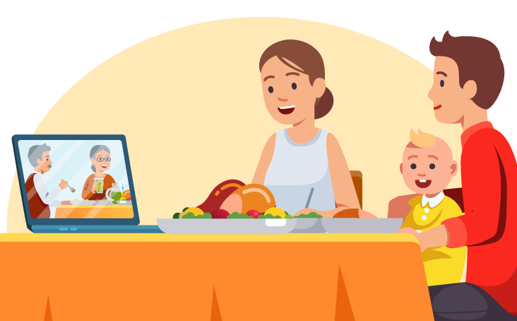 Host a virtual thanksgiving meal with friends and family,thanksgiving 2020 virtual meal