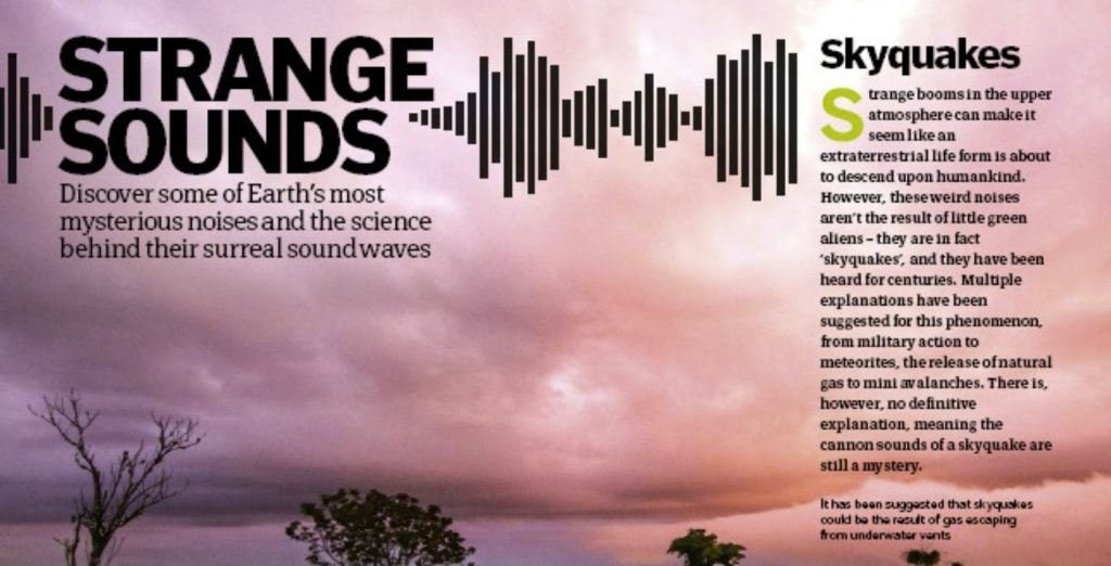 What are skyquakes, What are strange sounds, What are skyquakes and strange sounds
