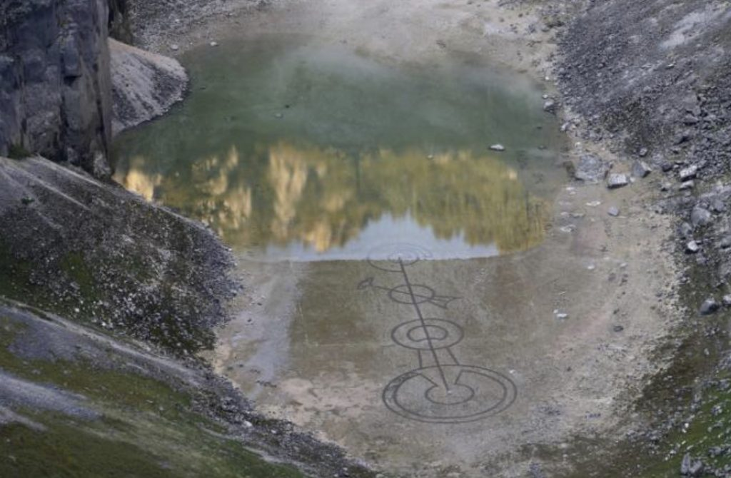 Mysterious alien sign at the bottom of Blue Lake in Croatia, Mysterious alien sign at the bottom of Blue Lake in Croatia pictures, Mysterious alien sign at the bottom of Blue Lake in Croatia video