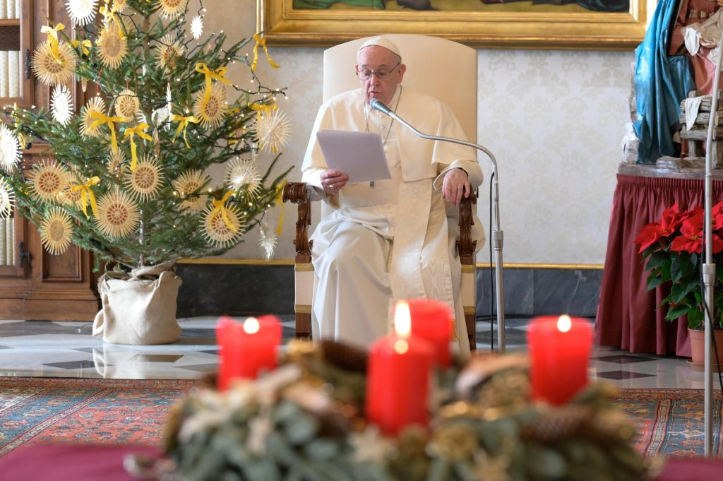 Christmas 'hijacked' by consumerist mentality, pope says