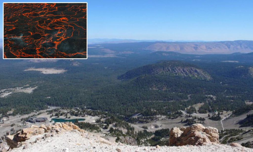 The long Valley Caldera is filling up with magma, long valley caldera unrest