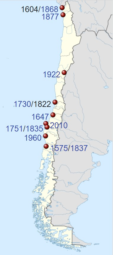 strong earthquakes in Chile