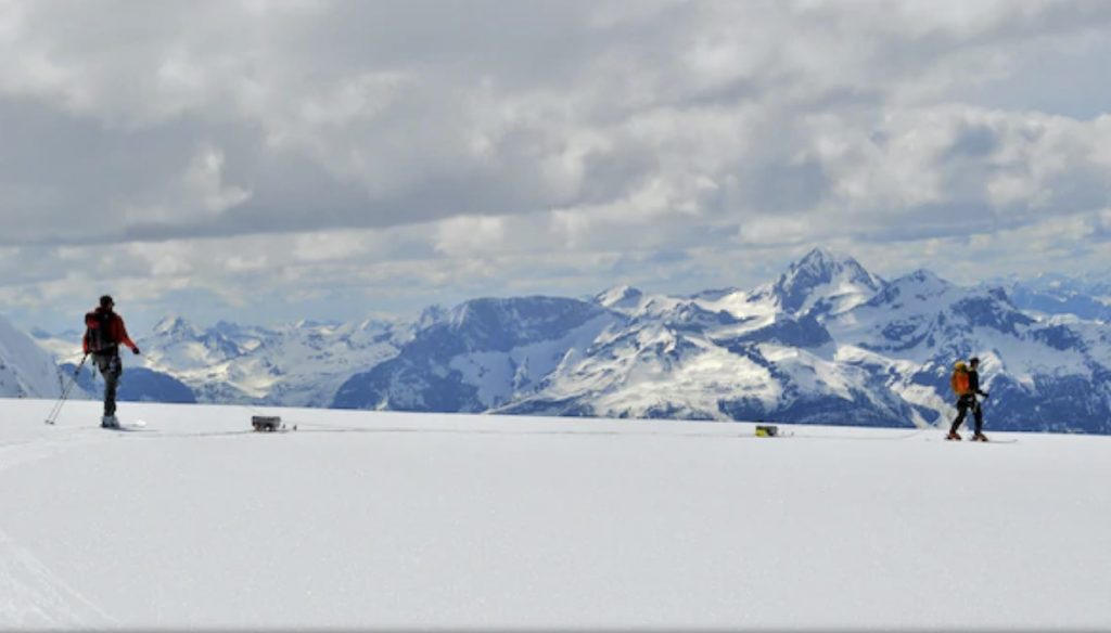 the ice is 38 per cent thicker than originally thought on five glaciers in the Columbia River Basin