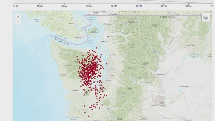Thousands of small earthquakes hit the Cascadia subduction zone during new slow slip event in 2020