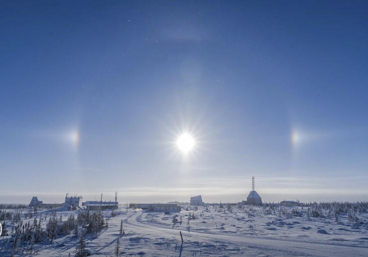 three sun phenomenon, parhelion, sun dogs