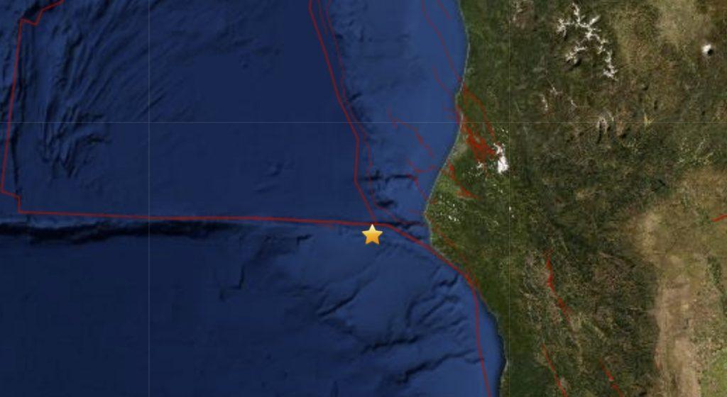 M2.9 earthquake hits off Petrolia in California on January 12 2021