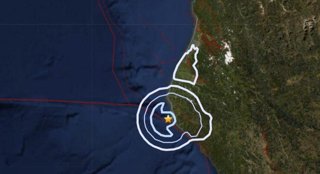 M3.3 earthquake hits off Petrolia in California on January 12 2021