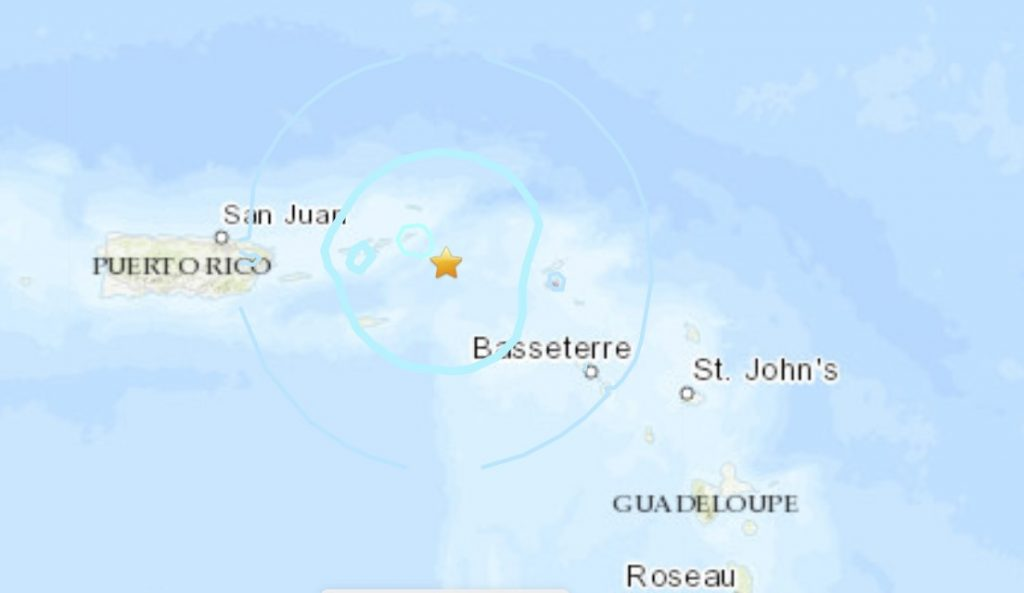 M5.4 earthquake hits near the US Virgin Islands on January 24, M5.4 earthquake hits near the US Virgin Islands on January 24 2021, M5.4 earthquake hits near the US Virgin Islands on January 24 video, M5.4 earthquake hits near the US Virgin Islands on January 24 map