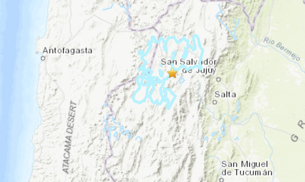 Strong M6.0 earthquake hits Argentina on January 10 2021, Strong M6.0 earthquake hits Argentina on January 10 2021 map
