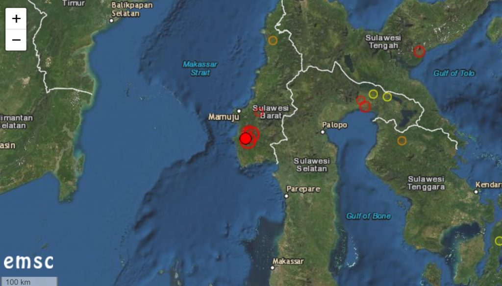 M6.2 earthquake hits sulawesi indonesia destroying buildings and bridges