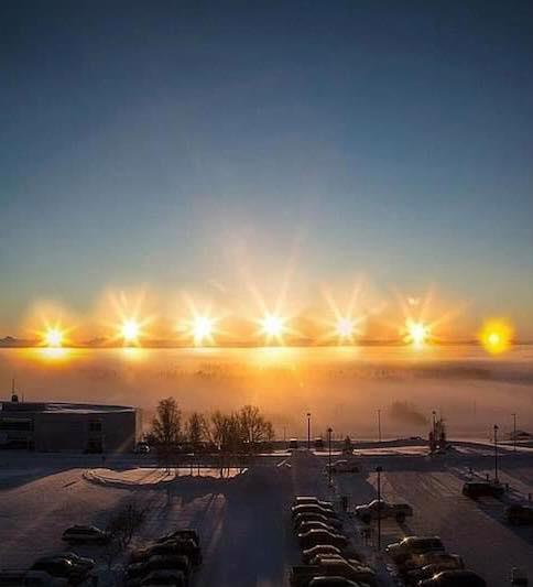 The sun just rose recently in Utqiagvik, Alaska (formerly Barrow) for the first time in over 2 months!