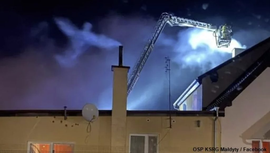 angel appears over firefighters in Poland, angel appears over firefighters in Poland picture