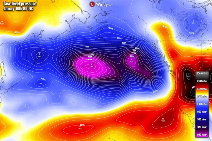 bomb cyclone highway alaska, bombogenesis highway northern pacific, one extreme storms after the other in nothern pacific ocean