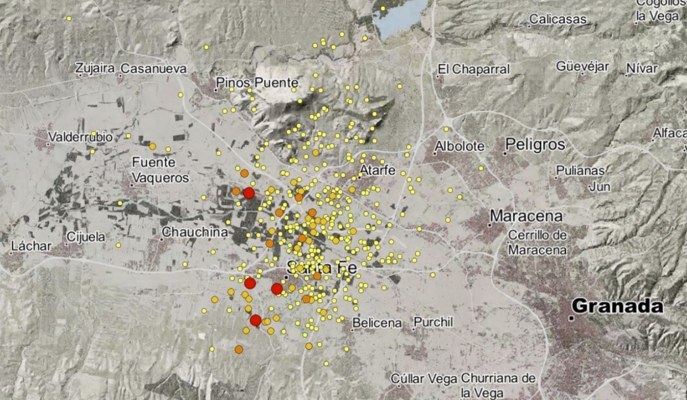 Swarm of more than 200 earthquakes rattles Granada, Andalusia, Spain in video and maps - Strange Sounds