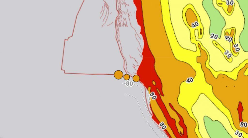 3 earthquakes hit off Petrolia on January 12 2021