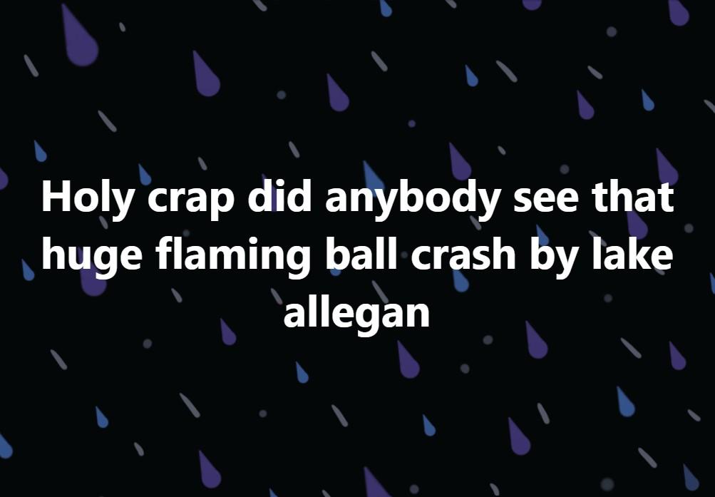 Did a large meteorite crash in Allegan Lake Michigan, meteorite impact michigan, meteorite impact allegan lake, allegan lake strange sky phenomena, loud boom meteorite allegan lake