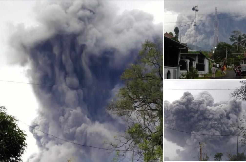 semeru volcano eruption january 16 2021, semeru volcano eruption january 16 2021 video, semeru volcano eruption january 16 2021 pictures, Semeru volcano violently erupts on January 16 2021 in Indonesia