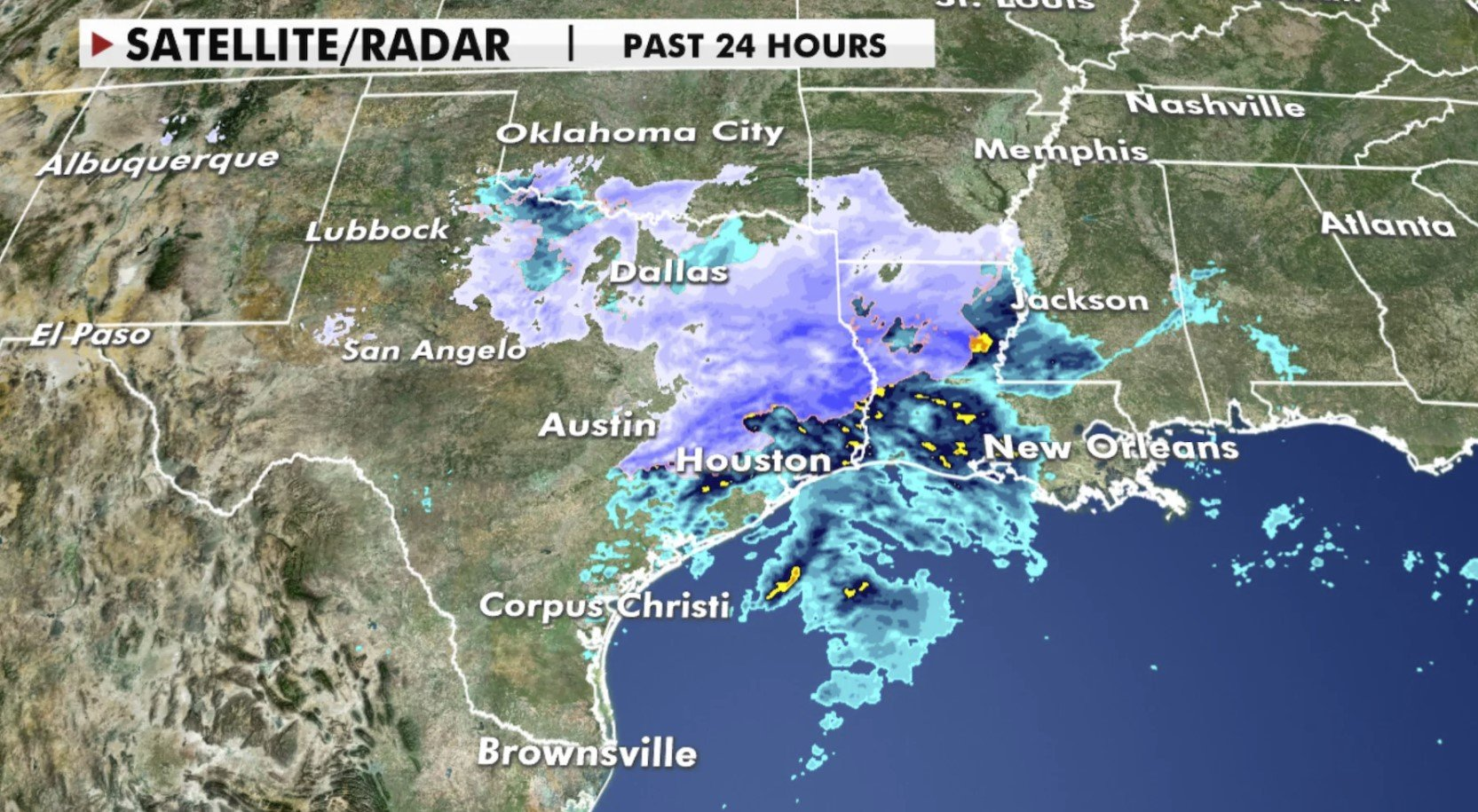 Extreme winter storm Lana drops snow in Texas and Mississippi Valley - 150,000 homes and businesses in the dark - Strange Sounds