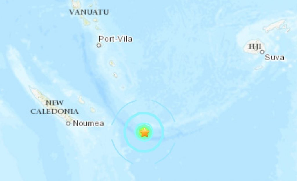 M6.1 earthquake Loyalty Islands, New Caledonia