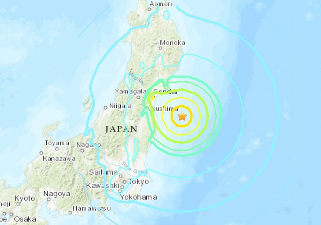 M7.1 earthquake hits off Fukushima in Japan on February 13, M7.1 earthquake hits off Fukushima in Japan on February 13 video, M7.1 earthquake hits off Fukushima in Japan on February 13 map, M7.1 earthquake hits off Fukushima in Japan on February 13 picture