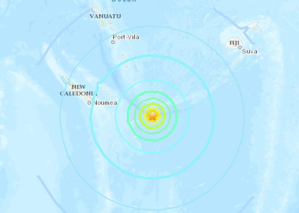 M7.7 earthquake Loyalty Islands, New Caledonia
