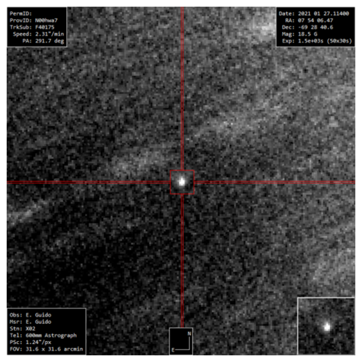 New Comet C/2021 B3 (NEOWISE)