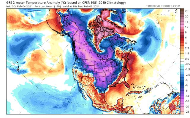 arctic blast north america february 2021, arctic blast usa february 2021, arctic blast canada february 2021