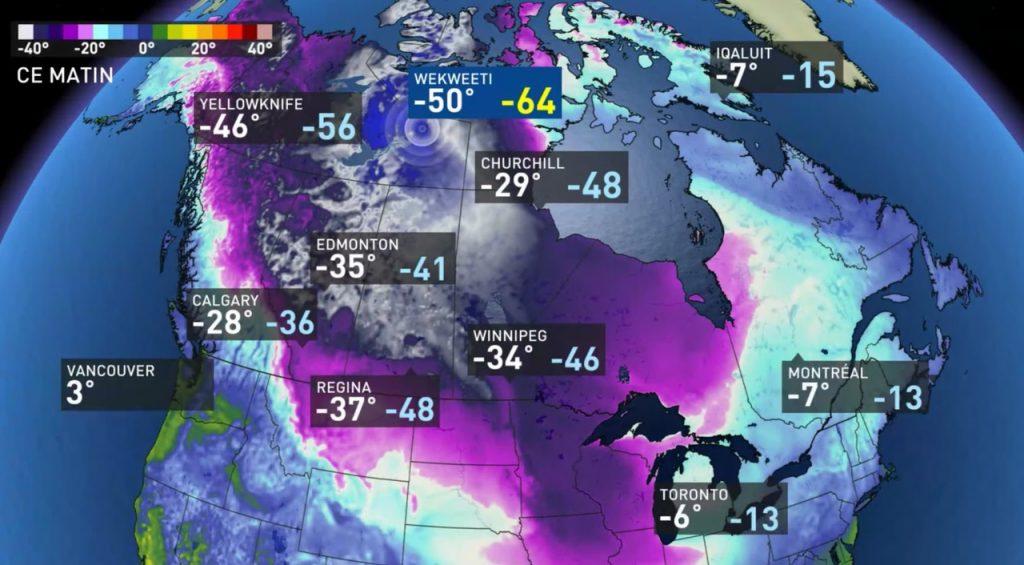 cold temperatures in Canada, freezing temperatures canada prairies, canada prairies polar vortex