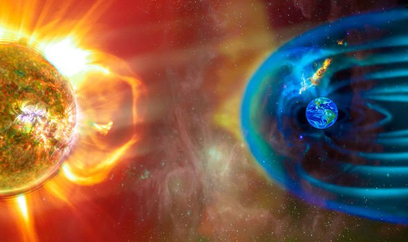 earth protected by magnetic fieldearth protected by magnetic field