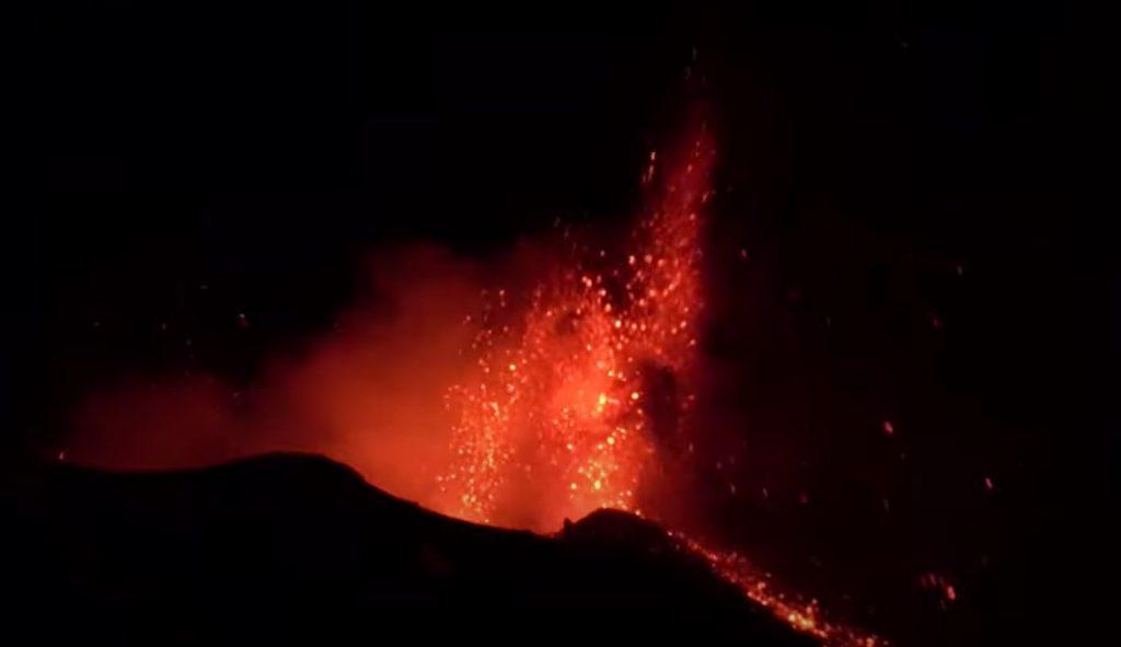 Etna volcano eruption on February 7 2021, Etna volcano eruption on February 7 2021 video, etna eruption feb 2021