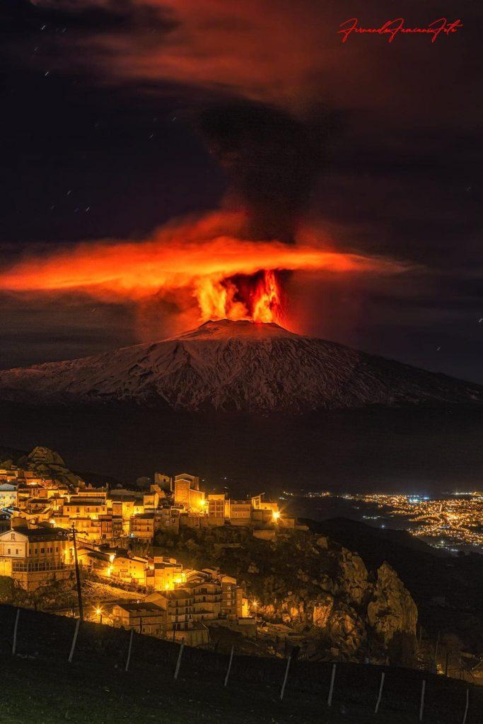 etna volcano paroxysm eruption february 20-21 2021, etna eruption video, etna eruption pictures