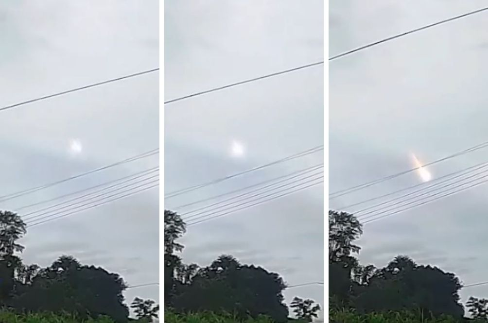 meteor explodes over Malaysia