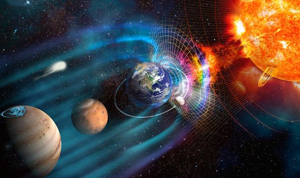 parts of earth magnetic field is weak