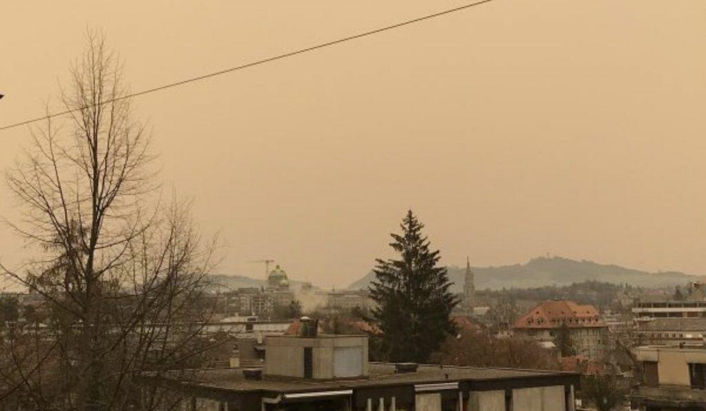 sahara dust europe france germany italy switzerland february 2021