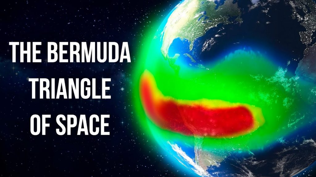the bermuda triangle of earth or Southern Atlantic Anomaly
