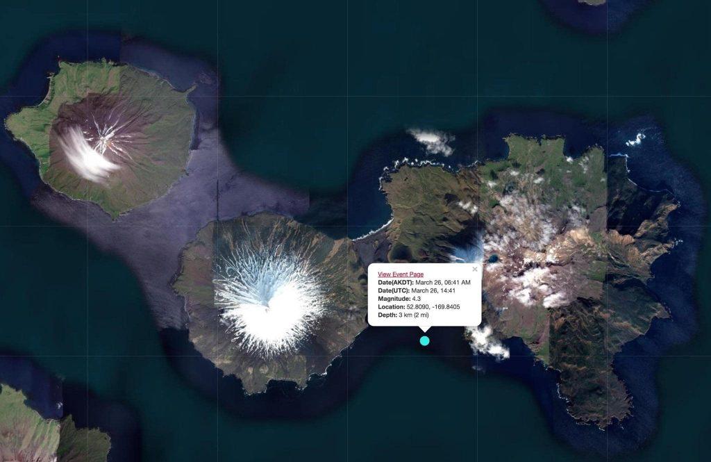 cleveland volcano earthquake