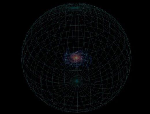 Schematic diagram of our galaxy's dark matter halo