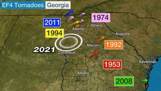 georgia ef4 tornadoes, georgia ef4 tornado newnan, georgia ef4 tornado march 2021, georgia ef4 tornado march 26 2021
