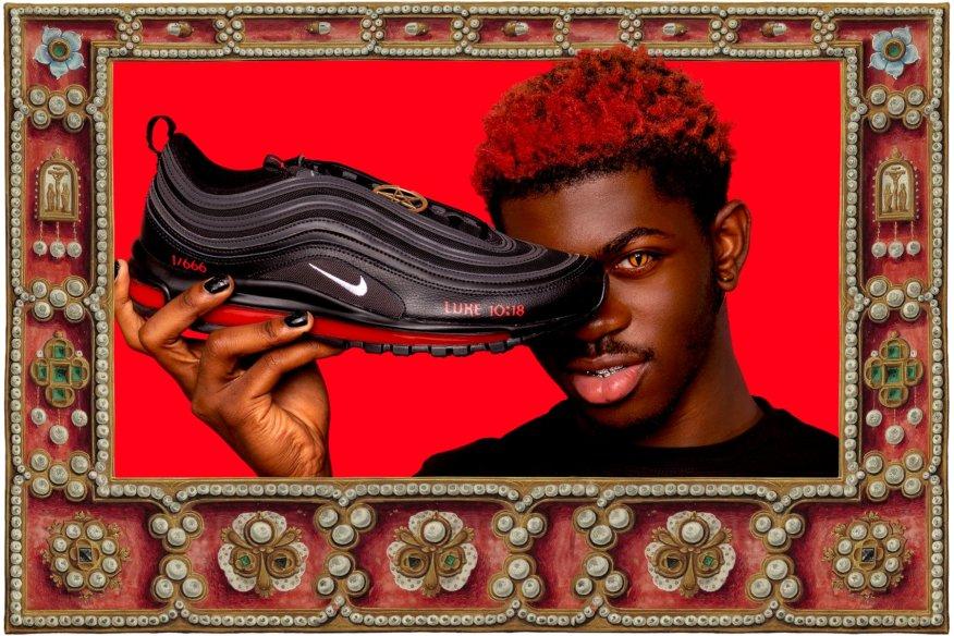 Lil Nas X satan shoes, satan shoes rapper, us rapper satan shoes, satan shoes Lil Nas X