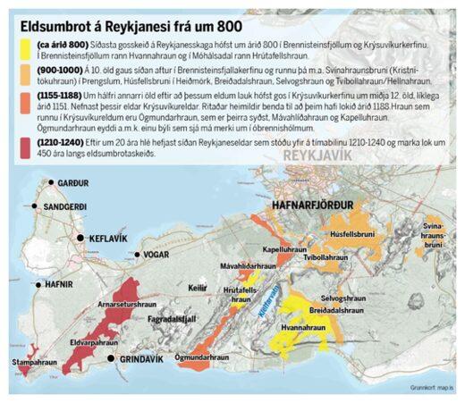 reykjanes peninsula volcanic eruptions, reykjanes peninsula volcanic eruption history