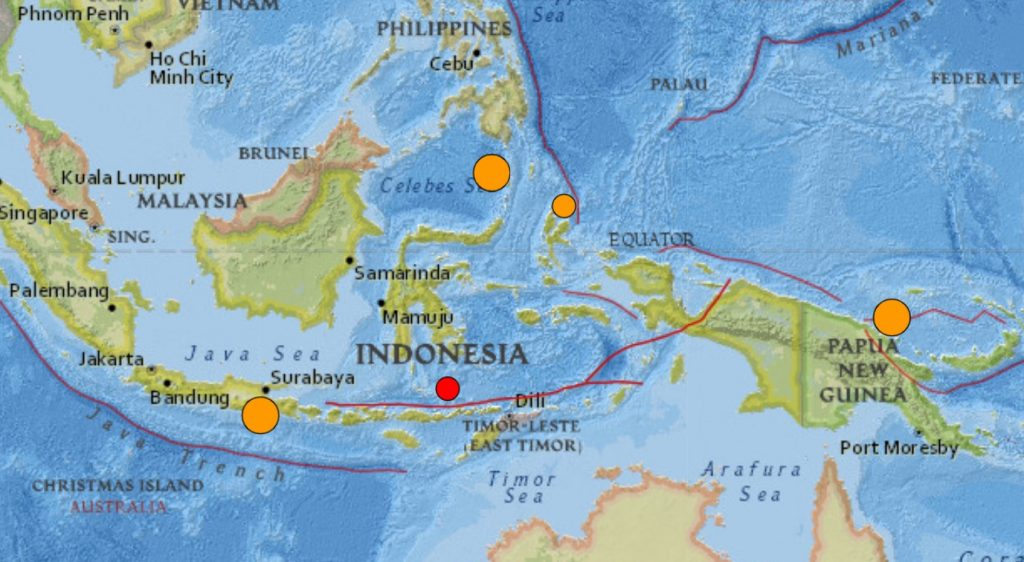 3 strong earthquakes hit Indonesia, PNG and the Philippines within 5 hours on April 10 2021, 3 strong earthquakes hit Indonesia, PNG and the Philippines within 5 hours on April 10 2021 map, 3 strong earthquakes hit Indonesia, PNG and the Philippines within 5 hours on April 10 2021 video, photo