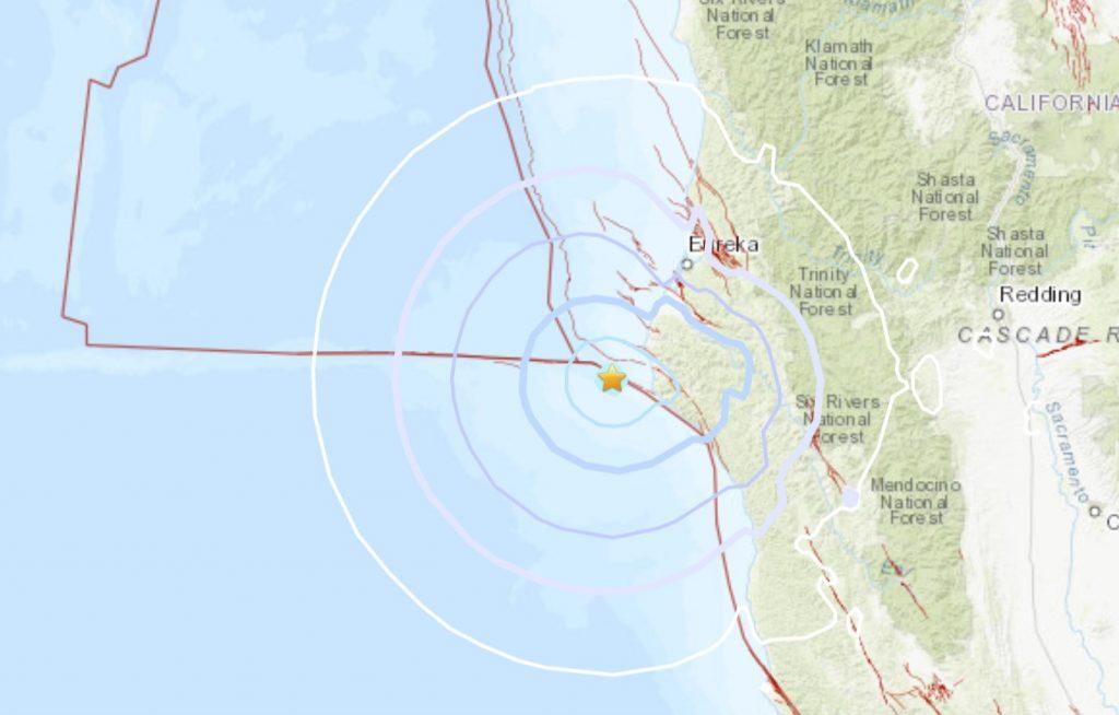 M4.4 earthquake 27km W of Petrolia, CA april 2 2021