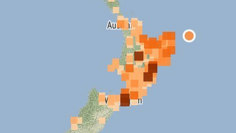 M6.1 earthquake hits close to New Zealand's coast maps - Strange Sounds