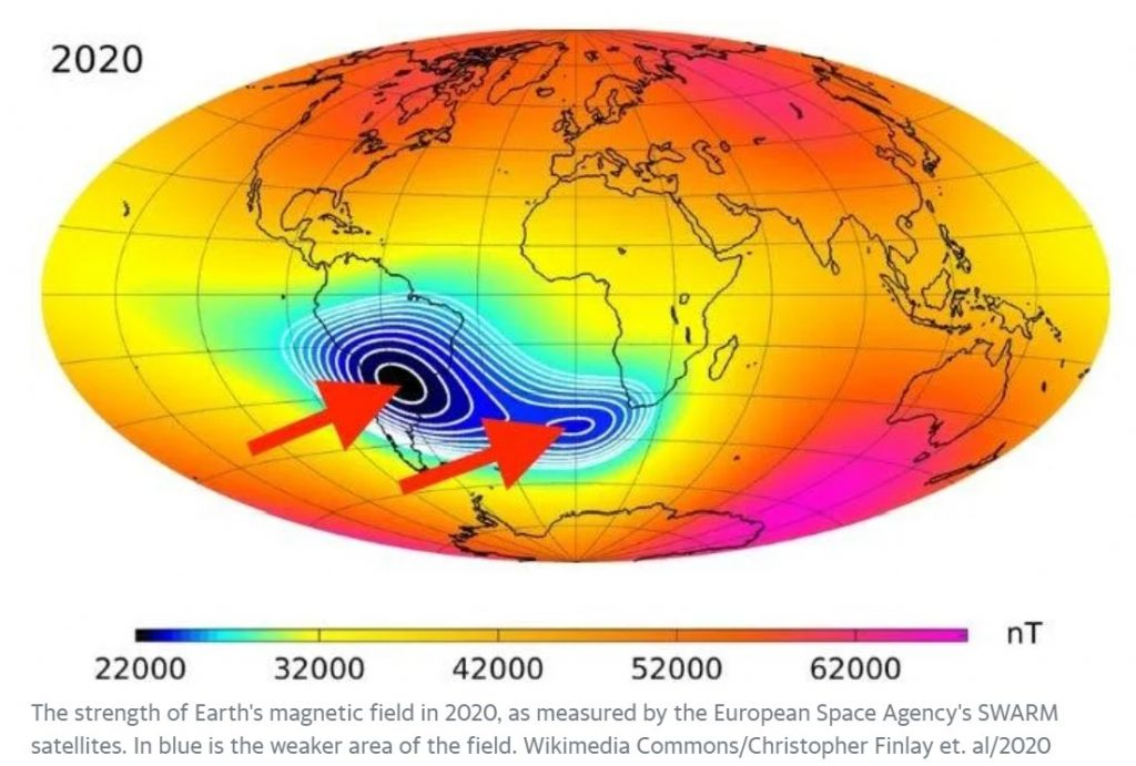 South Atlantic Anomaly, South Atlantic Anomaly pole shift, South Atlantic Anomaly video, what is South Atlantic Anomaly
