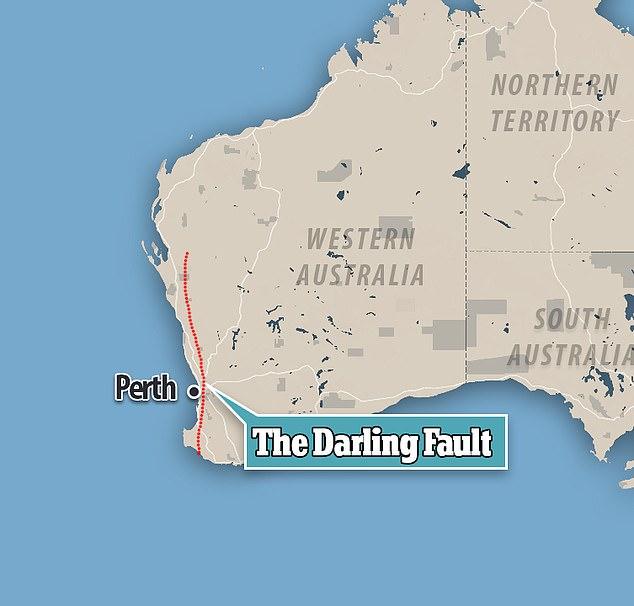 darling fault, darling fault western australia, large earthquake western australia, perth destruction earthquake darling fault