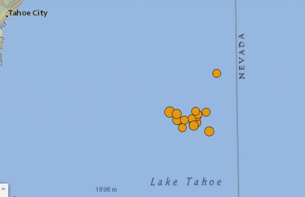 earthquake swarm lake tahoe april 25 2021