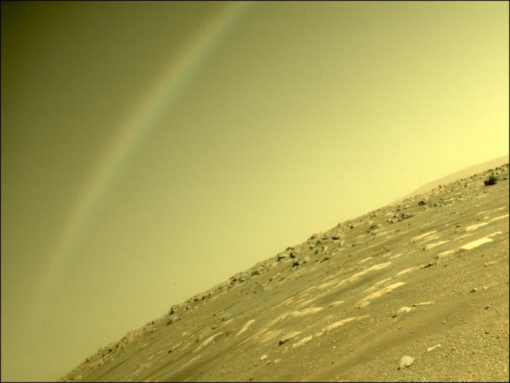 mars rainbow, rainbow on Mars, rainbow on Mars perseverance, rainbow on Mars picture, rainbow on Mars photo, rainbow on Mars video