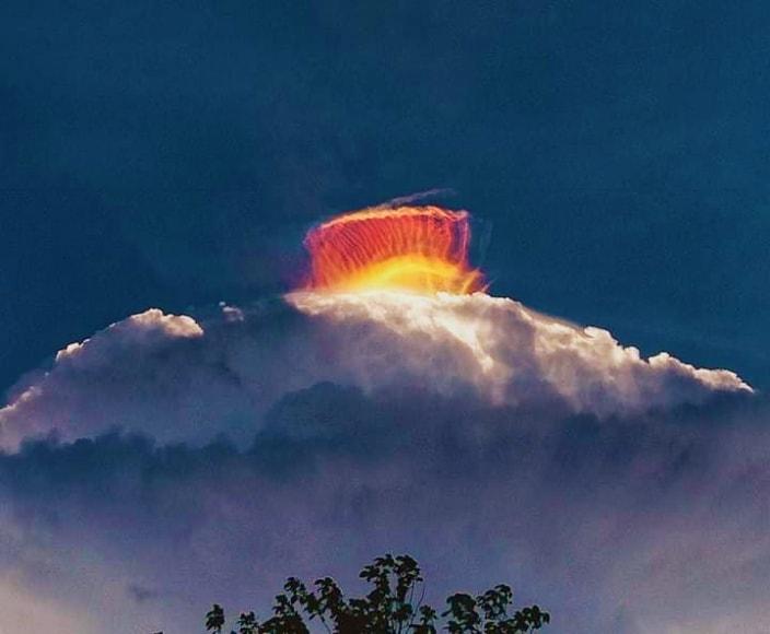 multicolor crown over cloud, multicolor crown over cloud pictures, multicolor crown over cloud video, multicolor crown over cloud april 2021